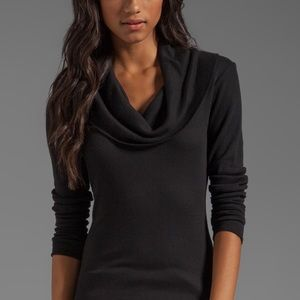 Splendid // Cowl Neck Waffle Knit Thermal Top